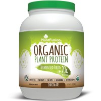 PlantFusion Organic Protein & Fermented Foods Powder, Chocolate, No Soy or Rice, 30 servings, 20g Protein, 2lb Tub