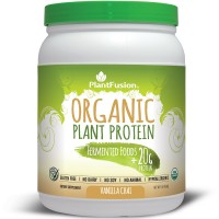 PlantFusion Organic Protein & Fermented Foods Powder, Vanilla Chai, No Soy or Rice, 15 servings, 20g Protein, 1lb Tub