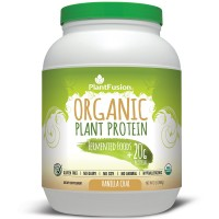 PlantFusion Organic Protein & Fermented Foods Powder, Vanilla Chai, No Soy or Rice, 30 servings, 20g Protein, 2lb Tub