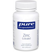 Pure Encapsulations - Zinc (Citrate) - Highly Bioavailable and Hypoallergenic Supplement for Immune Support and Prostate Function* - 180 Capsules