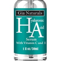 Pure, Natural, Organic (HA) Hyaluronic Acid Serum Cream. Superior Plant Sourced. Plus Vitamin C and E. Anti-Aging, Boosts Collagen, Reduces Wrinkles by Gia Naturals