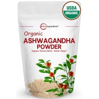 Pure Organic Ashwagandha Root Powder, 8 Ounce, Adaptogenic Ayurvedic Herbal Supplements to Promote Vitality & Strength, Powerfully Supports for Stress-Free Living, Non-GMO and Vegan Friendly.
