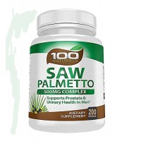 Pure Saw Palmetto - 500mg Berry Extract Capsule- For Prostate & Urinary Health, Hair Loss Benefits (100 caps) (200)