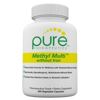 Pure Therapeutics Methyl Multi without Iron – 240 Vegetable Capsules