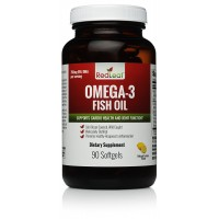 Red Leaf Omega-3 Premium Fish Oil - Fresh Cold-Ocean Sourced - Wild Caught - Ultra-Purified in Norway - 1,400mg per serving - 90 servings