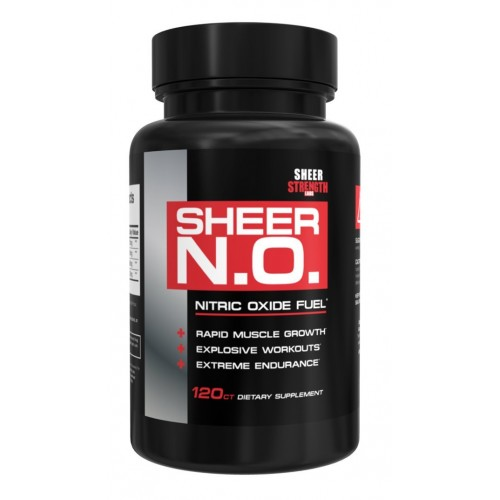SHEER N.O. Nitric Oxide Supplement - Premium Muscle Building Nitric Oxide Booster - Sheer Strength Labs - 120ct