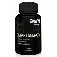 SMART ENERGY: NEW Caffeine with L-Theanine for Powerful Energy, Focus & Clarity- #1 Ranked Cognitive Performance Stack-Proven No Crash or Jitters-Natural-Caffeine 100mg, L-Theanine 200mg (1)