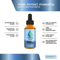 Serenity Hemp Oil 500 mg - 99.9% Pure - Full Spectrum Extract Blended Perfectly in Organic Hemp Oil - (Pain Free Blend) (2oz)