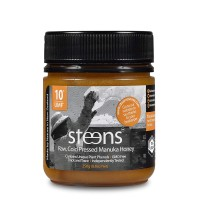 Steens Manuka Honey UMF 10 (MGO 263) 8.8 Ounce | Pure Raw Unpasteurized Honey From New Zealand NZ | Contains Natural Healing Properties for Sore Throats & Immunity | Traceability Code on Each Label