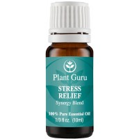 Stress Relief Synergy Blend Essential Oil. 10 ml. 100% Pure, Undiluted, Therapeutic Grade. (Bergamot, Patchouli, Sweet Orange, Ylang ylang, Pink grapefruit, Gurjum)