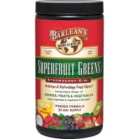 Superfruit Greens - Strawberry Kiwi Barlean's 9.52 oz Powder
