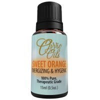 Sweet Orange Essential Oil by Ovvio | Essential Oils for Holistic Health and Natural Cleansing | 100% Pure Aromatherapy | Highest Quality Premium Grade Essential Oil from Brazil | Large 15 ml