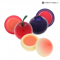 [TONYMOLY] Mini Lip Balm 7g (3 Set (Cherry + Blueberry + Peach))
