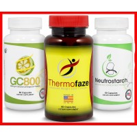 Thermofaze Natural Fat Burner Combo Pack - Unique Fat Burner, Appetite Suppressant, Metabolism Booster And Energy Enchancer For Women And Men - Patented Starch & Carb Blocker (2 Month Supply)