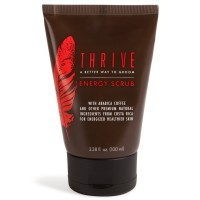 Thrive Face Scrub for Men – Exfoliating Facial Cleanser with Unique Premium Natural Ingredients for Energized Healthier Skin – Unclogs Pores & Helps Prevent Ingrown Hairs