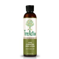 TreeActiv Acne Eliminating Body Lotion 8 fl oz | Clears Body, Back, Butt and Shoulder Acne | Anti-Acne Moisturizer | Prevents Future Breakouts | Green Tea and Honey Scent