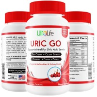 URIC GO! #1 Uric Acid Lowering Formula by UltaLife - End Gout Attacks & Excruciating Pain w/ Tart Cherry, Celery Seed Extract, Turmeric & Chanca Piedra To Fight Against Gout Pain, Swelling & Flare-Ups