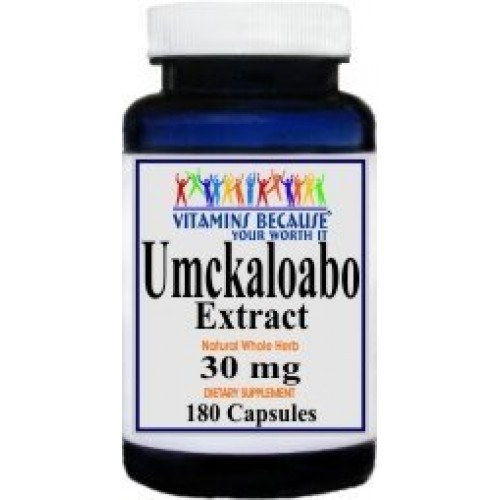 Umckaloabo Extract 30mg Capsules - Cold/Respiratory/Immune System (180 Capsules)