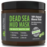 """(Value Size 16oz) Premium Dead Sea Mud Mask, """"CUCUMBER BLEND"""" + FREE Applicator Brush, Combat Acne, Oily Skin & Blackheads, Minimize Pores, For Smooth, Beautiful & Healthy Looking Skin"""