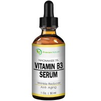 Vitamin B3 Facial Serum Niacinamide 5% - 1oz Moisturizing Face Cream Pore Tightener Wrinkle Reducer & Collagen Booster Antiaging - for Dark Spots Breakouts Acne Fine Lines Age Spots Premium Nature