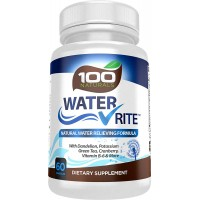 Water Rite: Natural Diuretic Water Pills, Advanced Water Loss Supplement, Water Away with Dandelion, Potassium, Green Tea & Cranberry, Vitamin B-6 and More, From 100 Naturals