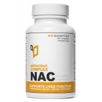 Wel EssentialsTM NAC (N-Acetyl-Cysteine) Antioxidant Complex - Supports Liver Function* - 30 Servings, 60 Vegetarian Tablets (With Grape Seed Extract, Selenium and Vitamin C)
