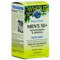 Whole Earth & Sea - Men's 50+ Multivitamin & Mineral, Raw, Whole Food Nutrition, 60 Tablets