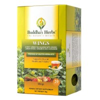 Wings Tea - Green Tea with Ginger, Cinnamon & Cardamom - 4 Pack - 20 Count Bags - Herbal Green Tea - Spicy Green Tea