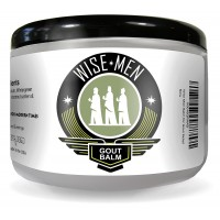 Wise Men Therapeutic Gout Relief Balm with Organic Lemon, Geranium, Wintergreen Essential Oils