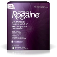 Women's Rogaine Treatment for Hair Loss & Hair Thinning Minoxidil Solution, Three Month Supply