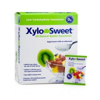 Xlear XyloSweet Non-GMO Xylitol Natural Sweetener, Granules, 4 Gram Sachets, 100ct