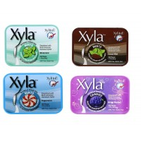 Xyla Mints & Candy , Wintermint, Peppermint, Grape Escape, Cocoa Mint, 1 of each ,Pack of 4