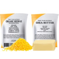 Yellow Beeswax 1 lb + Shea Butter 1 lb by Mary Tylor Naturals