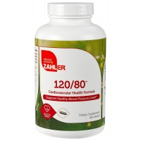 Zahler 120/80, Advanced Blood Pressure Support Supplement, Contains Hawthorn Berry and much more for Hypertension and Cardiovascular Control, Certified Kosher, 180 Capsules