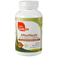 Zahler AfterMeals, Natural and Effective Antiacid and Digestive Aid, Occasional Acid and Reflux Inhibitor, Certified Kosher, 100 Chewable Tablets