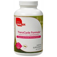 Zahler TransCycle, Powerful Cycle Maintenance Formula, Supports the Female Hormonal System, Certified Kosher, 180 Capsules