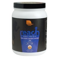 Zahlers Reach, Whey Protein Shake powder, Advanced Formula for Lean Muscle Build, Naturally Sweetened and Flavored, Certified Kosher, Great Tasting Cappuccino Flavor, 1.1 Pound