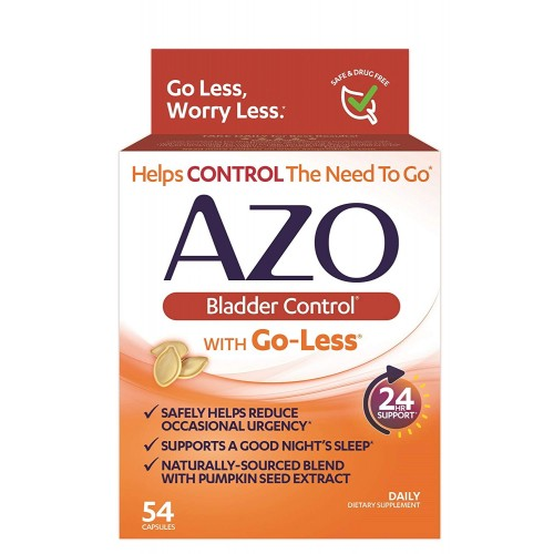 Azo Bladder Control >> Azo Bladder Control With Go Less Daily Supplement Helps Reduce Occasional Urgency Helps Reduce Occasional Leakage Due To Laughing Sneezing And