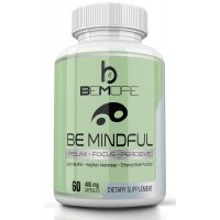 beMore BE MINDFUL | Nootropic Blend for Alert Mindfulness to Improve Mood, Memory, Focus and Energy while Relaxing the Mind to Reduce Stress & Anxiety with Valerian Root, Hops, St John's Wort & More