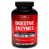 Digestive Enzymes with Probiotics & Prebiotics - Digestive Enzyme Supplements w Lipase, Amylase, Bromelain for Digestion, Bloating, Gas, and IBS for Men and Women – 90 Vegetarian Capsules