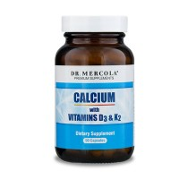 Dr. Mercola, Calcium with Vitamins D3 & K2, 90 Servings (90 Capsules), Non GMO, Soy-Free, Gluten-Free