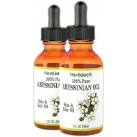 Horbaach Abyssinian Oil 4 fl oz (100% Pure) | for Hair and Skin | Paraben, SLS and Fragrance Free | from Crambe Abyssinica Seed