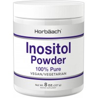 Horbaach Inositol Powder 8 oz | Vegan, Vegetarian Non-GMO, Gluten Free | 100% Pure Inositol Supplement