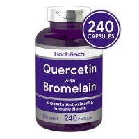 Horbaach Quercetin with Bromelain 240 Capsules | Non-GMO and Gluten Free Supplement