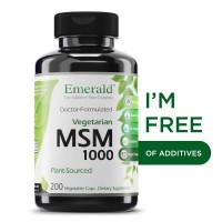 MSM 1,000 mg (Vegetarian) - Joint Support for Aches & Pains, Anti-Inflammatory, Stress Relief, Supports Digestive System, Allergy Relief - Emerald Laboratories (Ultra Botanicals) - 200 Capsules