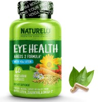 NATURELO Eye Health Vitamins - Best Supplement for Dry Eyes, Vision Preservation, Macular Degeneration Support - 60 Vegan Capsules