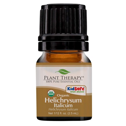 Plant Therapy Helichrysum Italicum Organic Essential Oil 2.5 Milliliter (1/12 Ounce) | 100% Pure, USDA Certified Organic, Undiluted, Natural Aromatherapy, Therapeutic Grade