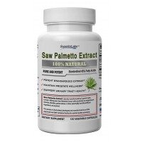 #1 Quality Saw Palmetto Extract by Superior Labs - Non Synthetic! 300mg, 120 Vegetable Caps - Made In USA, 100% Money Back Guarantee
