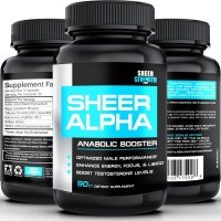 #1 Testosterone Booster Supplement SHEER ALPHA - 100% Natural Science-Based Formula Guarantees Real Results - Full 30 Day Supply