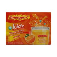Alacer Emergen-C Kidz Vitamin C Fizzy Drink Mix Orange - 250 mg - 30 Packets